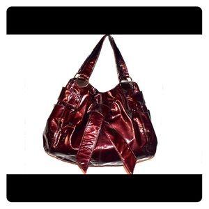 Kooba rare oxblood Patent Leather Handbag